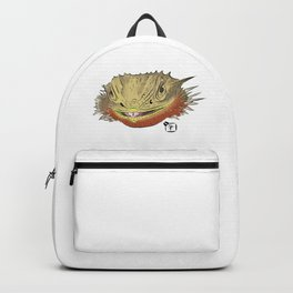 Bearded Dragon Face Backpack