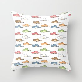 Tired Cats Throw Pillow