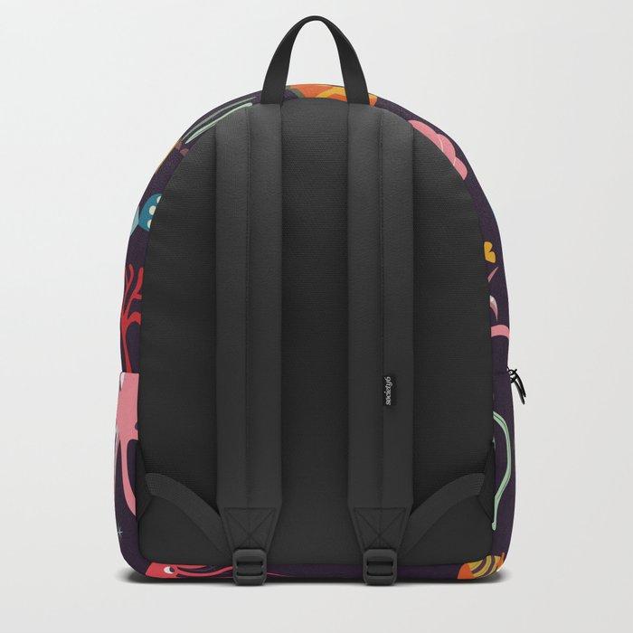 Sea creatures 001 Backpack