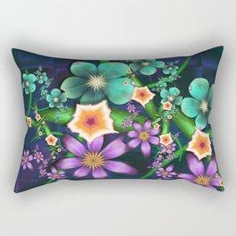 Flower Crop Rectangular Pillow