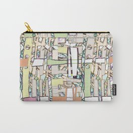 plaid ABSTRACT MODERN, textile, wall, wear ART Carry-All Pouch