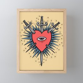 Three of Swords Framed Mini Art Print