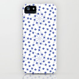 Blue flowers pattern of campanula iPhone Case