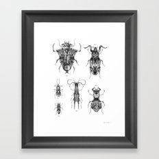 Entomologic Bones Framed Art Print