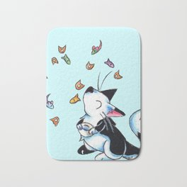 Caturday Morning Cereal Bath Mat