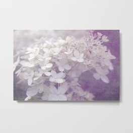 Veiled Beauty in Purple Metal Print