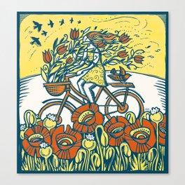 Bike Blossoms Canvas Print