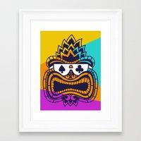 tiki Framed Art Prints featuring Tiki by Lorenzo Pinna