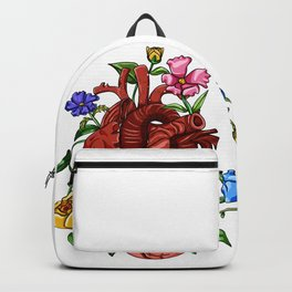 An Overgrown Floral Heart Backpack
