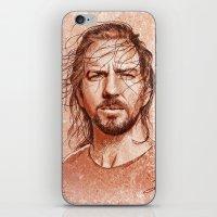 eddie vedder iPhone & iPod Skins featuring Eddie Vedder by Renato Cunha