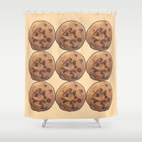 cookie monster Shower Curtains featuring Cookie by Spooky Dooky