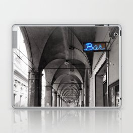 Black and white Bologna Street Photography Laptop & iPad Skin
