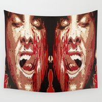 psycho Wall Tapestries featuring Psycho by Earl of Grey