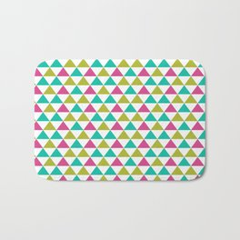 Bright Triangles Bath Mat