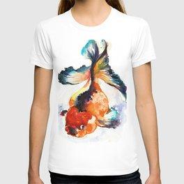 LUCKY GOLD FISH ZEN WATERCOLOR T-shirt