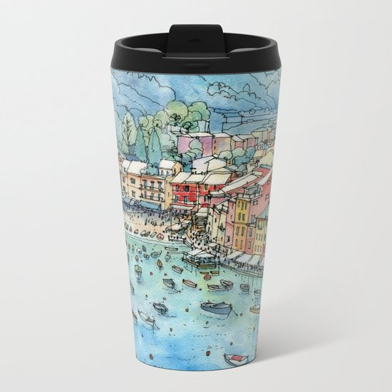 Portofino, Italy Metal Travel Mug