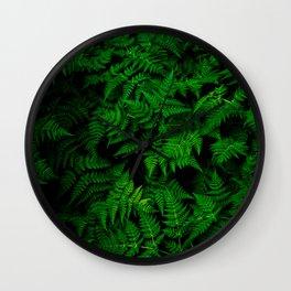 Deep Forest Ferns Wall Clock
