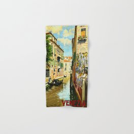 Venezia - Venice Italy Vintage Travel Hand & Bath Towel