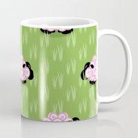 Pastel Sheep Pattern Mug