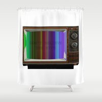 hiphop Shower Curtains featuring Don't believe the hype by bravo la fourmi