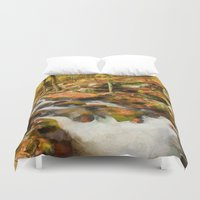 rush Duvet Covers featuring Gold Rush by ThePhotoGuyDarren