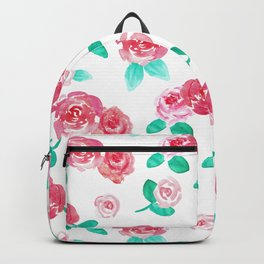 Watercolor Floral Rose Garden Backpack