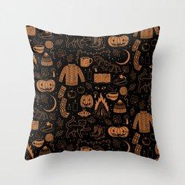 Autumn Nights: Halloween Throw Pillow