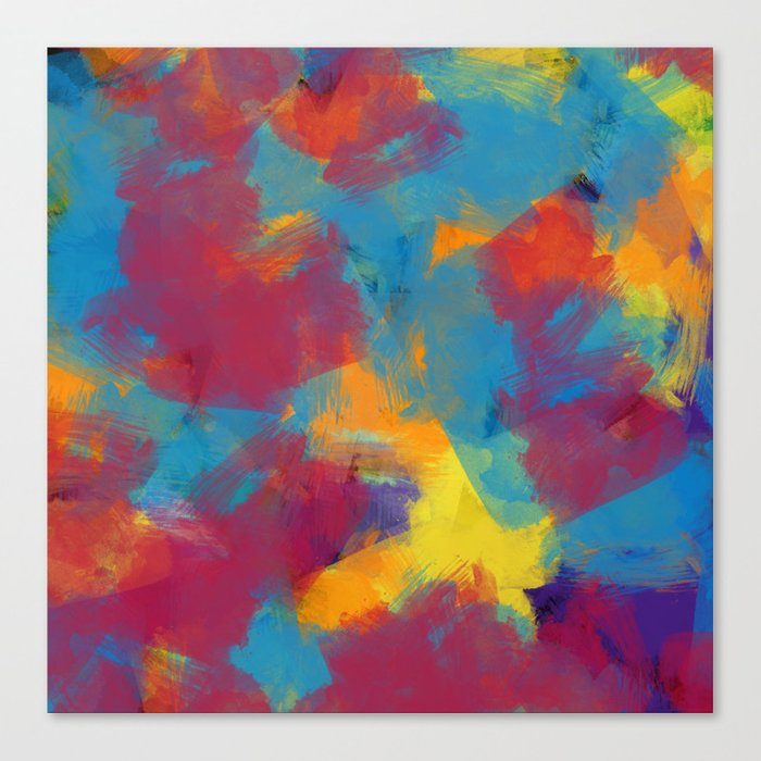A Tropical Paradise Abstract Art Canvas Print By Starflyer