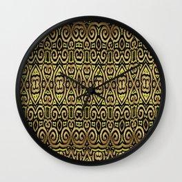 Golden Manipura Wall Clock