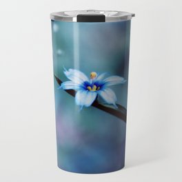 Blue on blue Flower Photography, Symphony in Blue Travel Mug