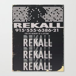 Rekall ( Total Recall ) Vintage magazine commercial. Canvas Print