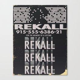 Rekall ( Total Recall ) Vintage magazine commercial. Canvas Print