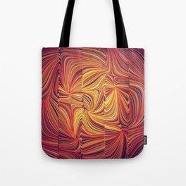 Electric Field Art LV Tote Bag
