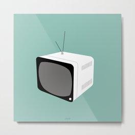 MINT Retro Tv Metal Print
