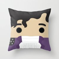 prince Throw Pillows featuring Prince by heartfeltdesigns by Telahmarie