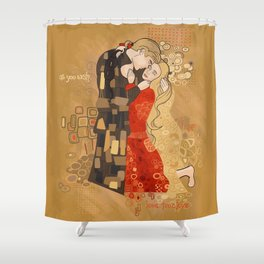 The Invention of the Kiss Shower Curtain