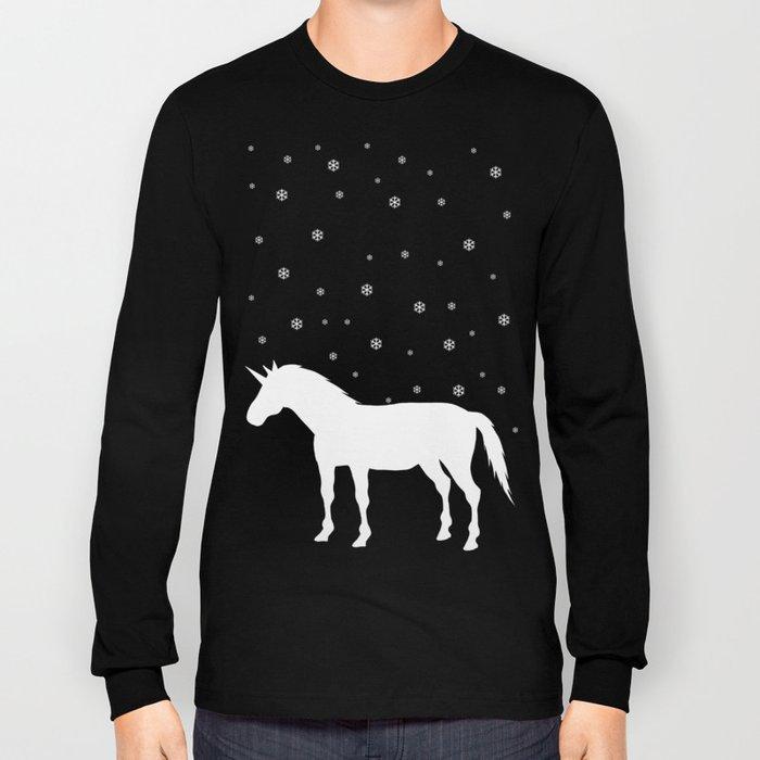 Winter Falls Unicorn Long Sleeve T-shirt
