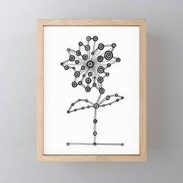 Bullseye Flower Framed Mini Art Print