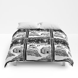 Snowy Christmas Comforters