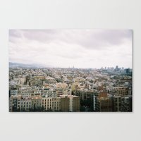 barcelona Canvas Prints featuring Barcelona by lisk