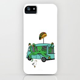 Flock of Gerrys Octo's Taco Cart by Seasons Kaz Sparks iPhone Case