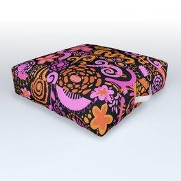 Pink Orange Yellow Zendoodle Outdoor Floor Cushion