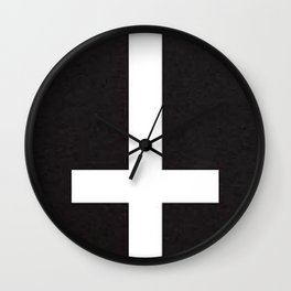 upsidedowncross Wall Clock