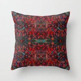 Emerald fall geometry III Throw Pillow