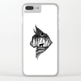 THE LYNX & THE MOON Clear iPhone Case