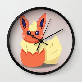 Evolution Bobbles - Flareon Wall Clock