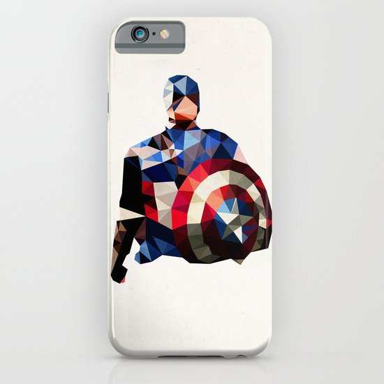 Polygon Heroes - Captain America iPhone & iPod Case