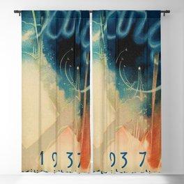 1937 Paris World's Fair Exposition Internationale France Vintage Advertising Poster Blackout Curtain