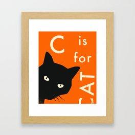 C is for CAT Framed Art Print