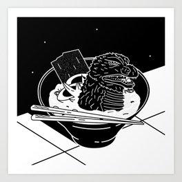 Godzilla Ramen Art Print